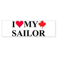 I Love My Canadian Sailor Bumper Bumper Sticker