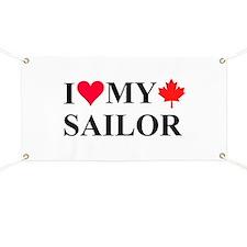 I Love My Canadian Sailor Banner