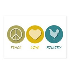Peace Love Poultry Postcards (Package of 8)