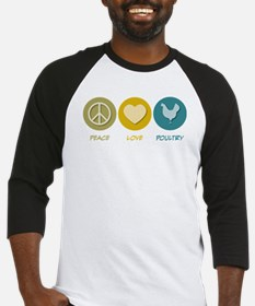 Peace Love Poultry Baseball Jersey