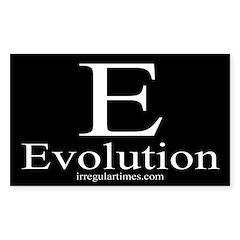 E: Evolution (bumper sticker)