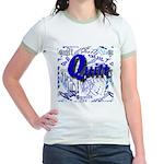 Quilt Blue Jr. Ringer T-Shirt