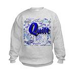 Quilt Blue Kids Sweatshirt