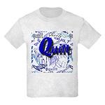 Quilt Blue Kids Light T-Shirt
