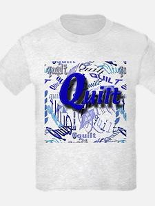 Quilt Blue T-Shirt