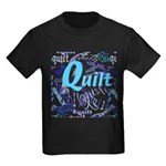 Quilt Blue Kids Dark T-Shirt