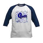 Quilt Blue Kids Baseball Jersey