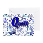 Quilt Blue Greeting Card