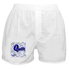 Quilt Blue Boxer Shorts