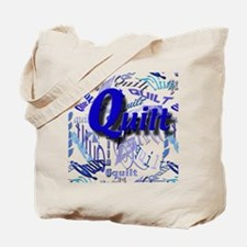 Quilt Blue Tote Bag