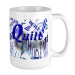 Quilt Blue Large Mug