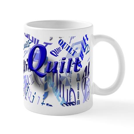 Quilt Blue Mug