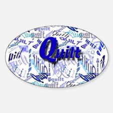 Quilt Blue Oval Decal