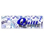 Quilt Blue Bumper Sticker (50 pk)
