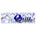 Quilt Blue Bumper Sticker (10 pk)