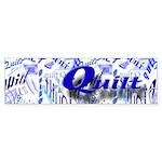 Quilt Blue Bumper Sticker