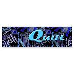 Quilt Blue Dark Bumper Sticker (50 pk)