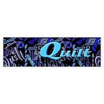 Quilt Blue Dark Bumper Sticker (10 pk)