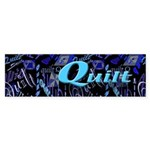 Quilt Blue Dark Bumper Sticker