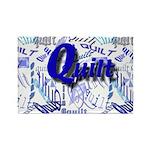 Quilt Blue Rectangle Magnet (10 pack)