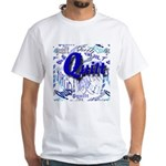 Quilt Blue White T-Shirt