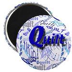 Quilt Blue Magnet