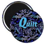 Quilt Blue Dark Magnet