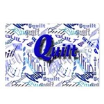 Quilt Blue Postcards (Package of 8)