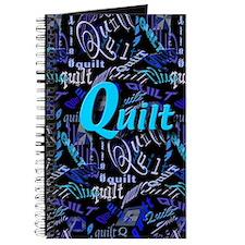 Quilt Blue Dark Journal