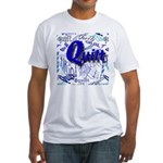 Quilt Blue Fitted T-Shirt