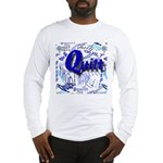 Quilt Blue Long Sleeve T-Shirt