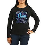 Quilt Blue Women's Long Sleeve Dark T-Shirt