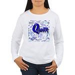 Quilt Blue Women's Long Sleeve T-Shirt