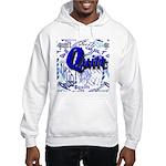 Quilt Blue Hooded Sweatshirt
