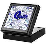 Quilt Blue Keepsake Box