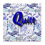 Quilt Blue Tile Coaster
