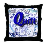 Quilt Blue Throw Pillow