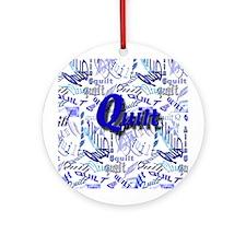 Quilt Blue Ornament (Round)