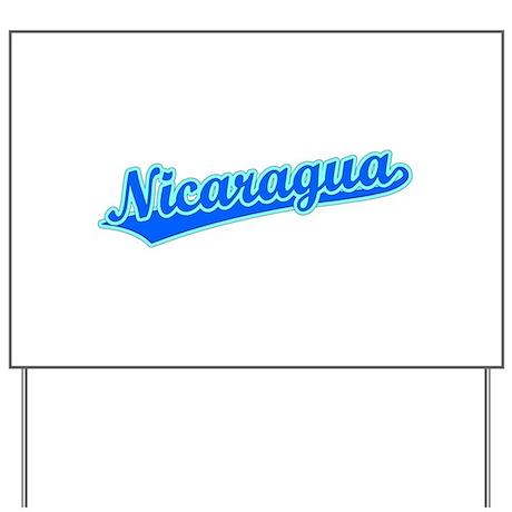 Retro Nicaragua (Blue) Yard Sign