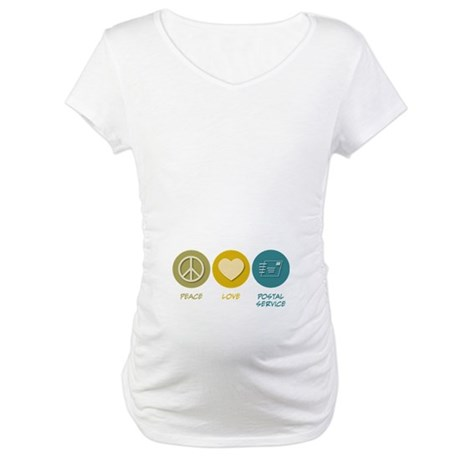 Peace Love Postal Service Maternity T-Shirt