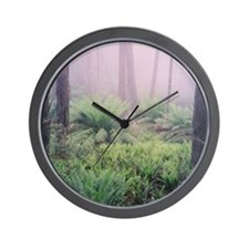 Misty Forest Photo, Victoria Wall Clock