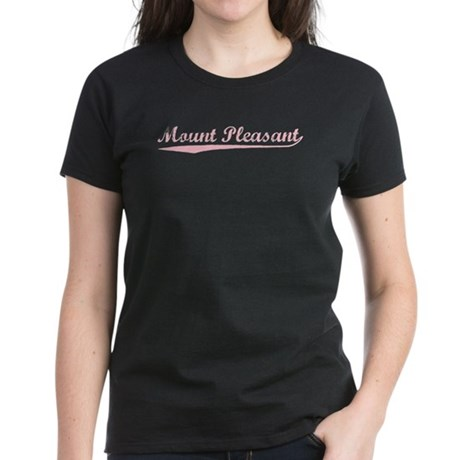 Vintage Mount Plea.. (Pink) Women's Dark T-Shirt