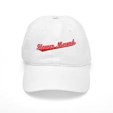 Retro Flower Mound (Red) Baseball Cap