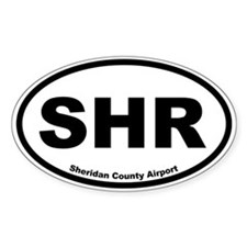 Sheridan County Airport Oval Decal