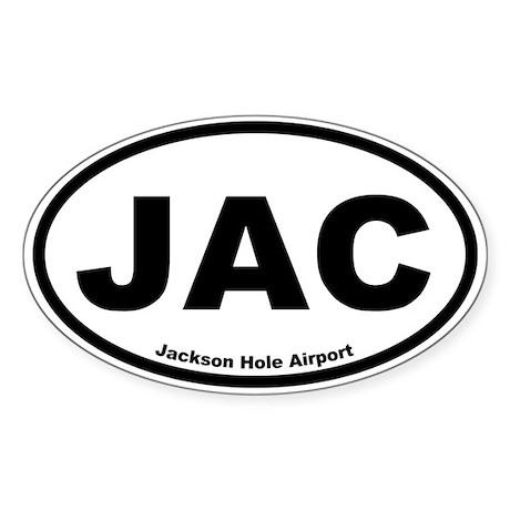 Jackson Hole Airport Oval Sticker