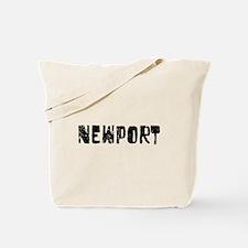 Newport Faded (Black) Tote Bag