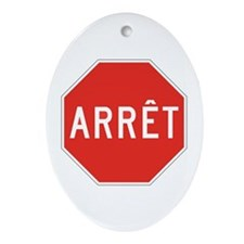 Stop, Quebec (CA) Oval Ornament