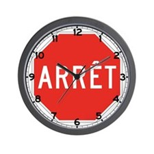 Stop, Quebec (CA) Wall Clock
