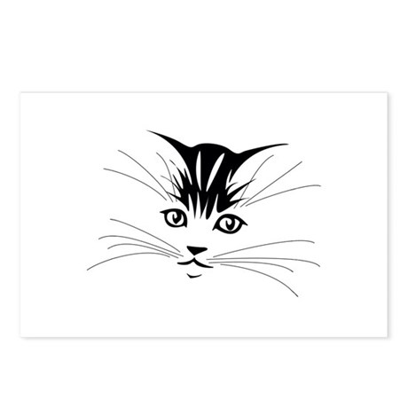 Silhouette Kitten Postcards (Package of 8)