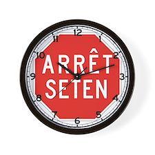 Stop Huron, Quebec (CA) Wall Clock